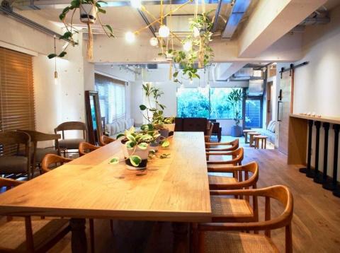 店内には「そら植物園」代表でプラントハンターとして活躍する西畠清順氏がプロデュースした植栽が並び、ゆったりくつろげる空間となっている。ソファ席や電源を完備したカウンター席など約50席を用意