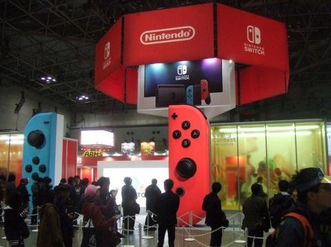 2016年の「Nintendo Switch」発表会。このときから、任天堂は「これが任天堂の新しい据え置きゲーム機です」と強調していた