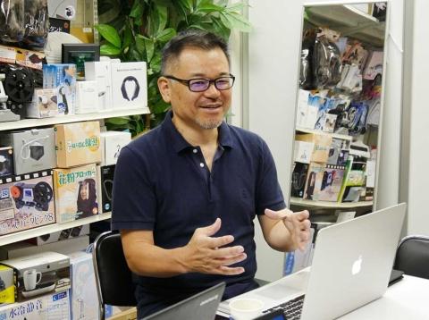 サンコーの創業者で代表取締役CEOの山光博康氏。社名は本人の名前からきている