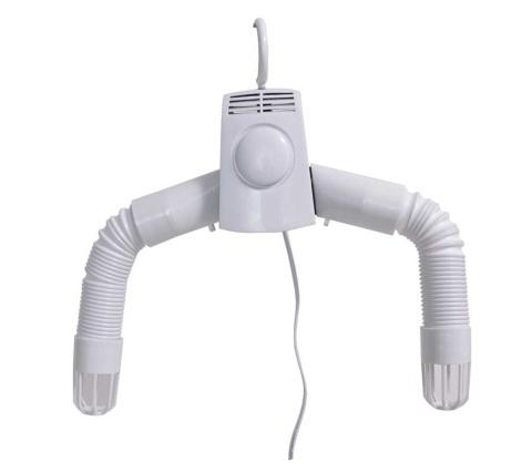 家電製品として最初に手掛けた「服や靴が早く乾く!温風ハンガー乾燥機」。シャツや靴などの乾燥ができる(写真提供/サンコー)