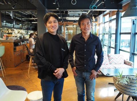 カフェ・カンパニーの楠本修二郎社長(右)とsubLimeの花光雅丸社長