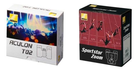 「ACULON T02」シリーズのパッケージはライブをイメージ。同時に発売する「Sportstar Zoom」シリーズのスポーツ観戦をイメージしたパッケージと比較するとターゲットが際立つ