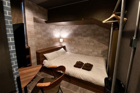 2人部屋。仮に1人で使うと1泊8000円程度