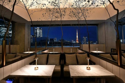 テラス席から眺める東京タワーの夜景は人気となりそう