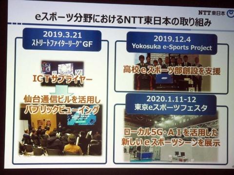 NTT東日本のeスポーツ分野における実績
