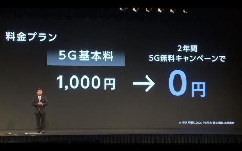 メリハリプランなどの4G料金プランで5Gを利用する場合は、月額1000円の追加が必要だが、8月末までの加入者は2年間無料にする