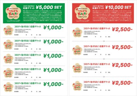 チケットは5000円と1万円の2種類ある