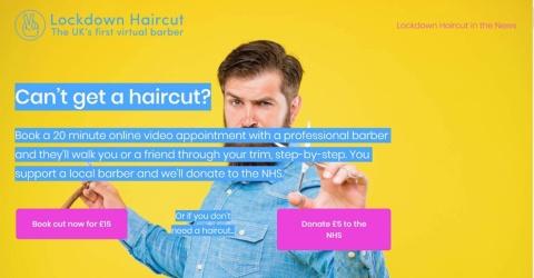 「Lockdown Haircut」のホームページ