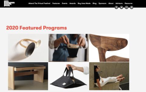 サンフランシスコ・デザインウイークのホームページ。同イベントは2006年から毎年開催している