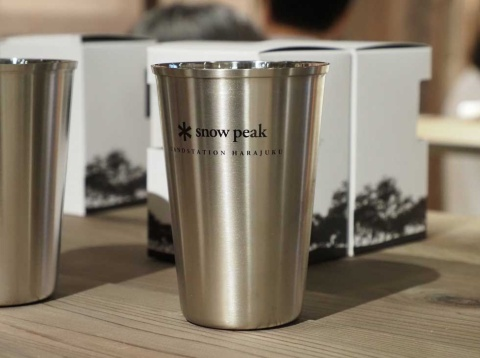 LAND STATION HARAJUKUでしか買えないオリジナル商品も置かれている。これはステンレス製の「エコカップ」2200円(税別)