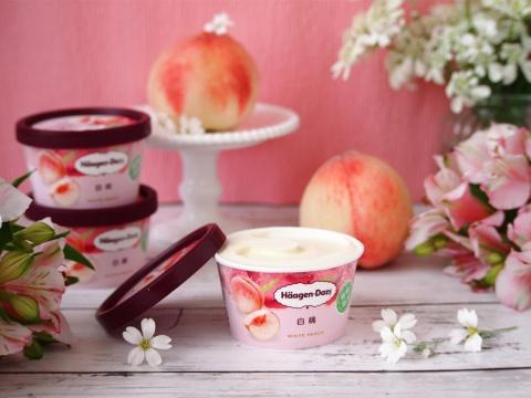 期間限定ミニカップ「白桃」の人気で「プレミアムアイス」復調