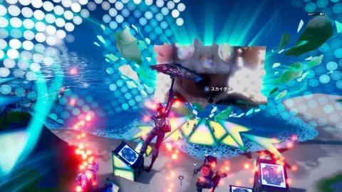 サビになるとアバターが自動的にジャンプさせられる演出も © 2020, Epic Games, Inc