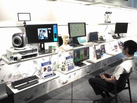 「ICTエリア」には、最先端のICT技術が並ぶ