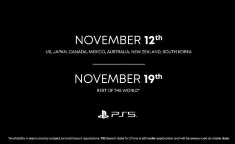PS4は日本での発売が米国や欧州などより遅れたが、PS5では米国などと並んで世界最速での発売となる(出所/SIEの映像イベント)