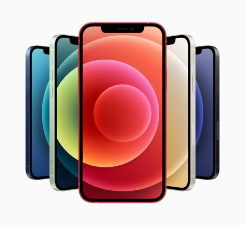 米アップルが米国時間の2020年10月13日に発表した新しい「iPhone 12」シリーズ。5色のカラフルなバリエーションと新デザイン、5Gへの対応が大きなポイントだ