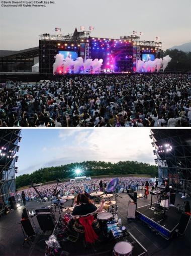 2020年8月21日から3日間、富士急ハイランド・コニファーフォレストで開催されたライブイベント「BanG Dream! 8th☆LIVE 夏の野外3DAYS」の様子