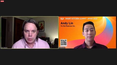右がYo-Kai Express創業者でCEOのAndy Lin氏