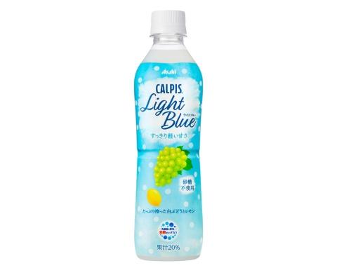 2021年4月13日 に発売する「『CALPIS』Light Blue」。希望小売価格は500mlで140円(税別)