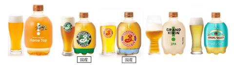 定番ビールは「キリン一番搾り生ビール」最上位ブランドの「一番搾り プレミアム」。クラフトビールは「スプリングバレー」ブランドや「ブルックリンブルワリー」ブランド、「グランドキリン」などを扱う