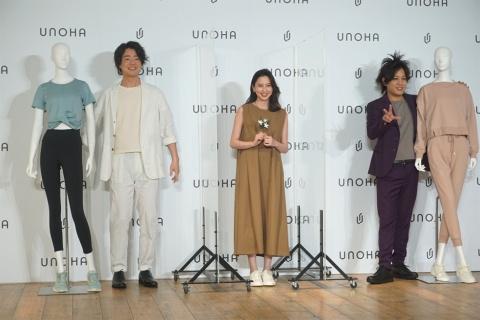記者発表で、「オンとオフのバランス」についてトークセッションをした河北麻友子氏(中央)と、ぺこぱ