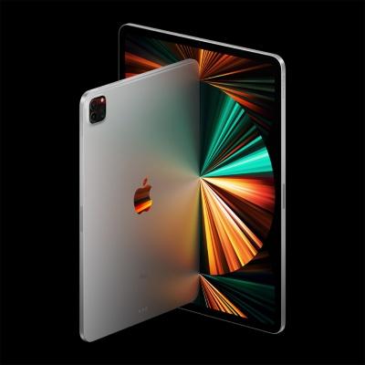 アップルのタブレット「iPad Pro」。M1チップを搭載して処理性能を高めた。11インチモデルと12.9インチモデルがある