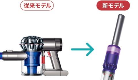 10年以上使ってきたグリップ型のハンドルを直線型に変更。電源スイッチは、従来の人さし指で引いて電源を入れるトリガー式から、ボタン式に変更した