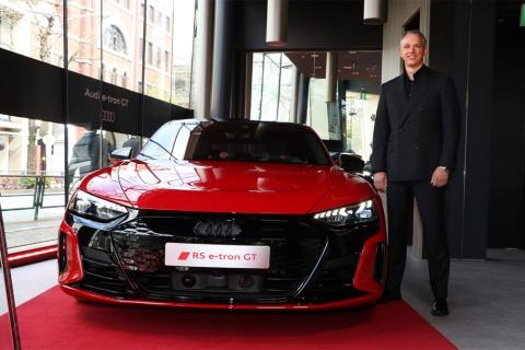 「Audi RS e-tron GT」はブースト機能を使用した場合、0-100km/h加速が3.3秒を記録する