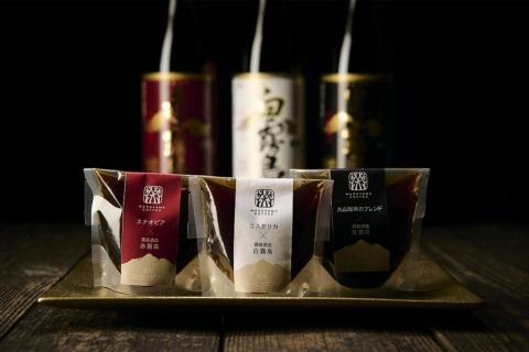 霧島酒造とのコラボレーション商品「丸山珈琲×霧島酒造 焼酎コーヒーゼリー」。コーヒーと焼酎の組み合わせによって味わいが異なる。3個入り3240円、6個入り5400円(いずれも税込み)