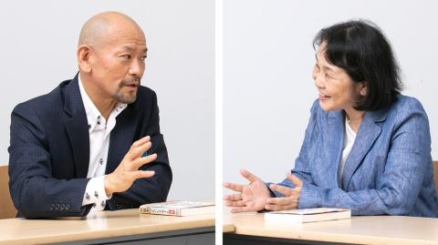 IBAカンパニー代表取締役の射場瞬氏(右)とクー・マーケティング・カンパニー代表取締役の音部大輔氏(左)