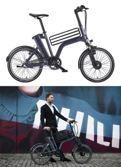 電動アシストモーターを前輪に配した、BESVのブランド、ヴォターニの「H3」(税込み14万5200円)。標準装備のセンターバスケットには細身のビジネスバッグなどを入れやすく、ズボンの裾が汚れにくいチェーンガードも装着され、自転車通勤に使いやすい1台(画像提供/BESV JAPAN)