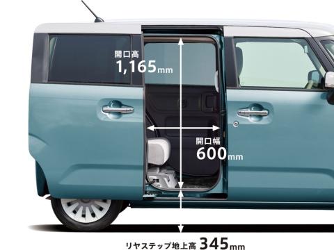 ワゴンRスマイルの室内高はワゴンRより高く、開口幅はスペーシアと同じ600ミリなので乗り降りしやすいという