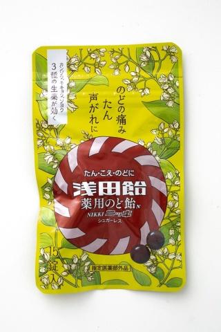 「浅田飴 薬用のど飴N(ニッキ)」(税込み324円)。缶入りに比べて小容量かつ低価格なパウチタイプの袋入りが、試し買い需要にも合致