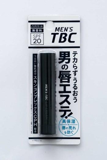「メンズTBC リップクリーム」(税込み378円)。メンズエステのTBCが手掛ける、潤いを与えつつテカる心配がないリップクリーム