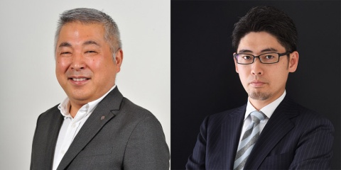 プリファード・ネットワークス 執行役員CMO(最高マーケティング責任者) 富永朋信氏(左)とインサイトフォース 代表取締役 山口義宏氏(右)