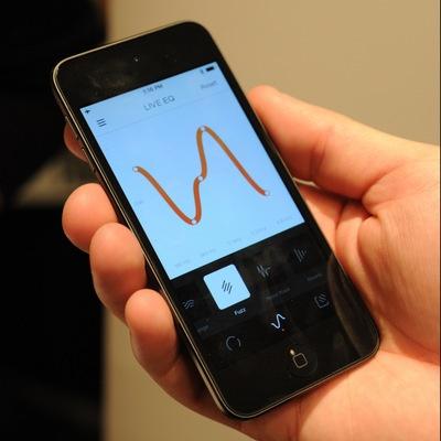 スマホアプリを使い、聞こえる周波数を自由に調節