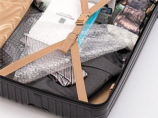 スーツケースに詰める際に、ごく最低限の梱包は行われている