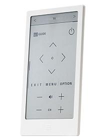 立てて置くことも可能で、下部に「ホームボタン」を配置。充電はUSB端子を使う