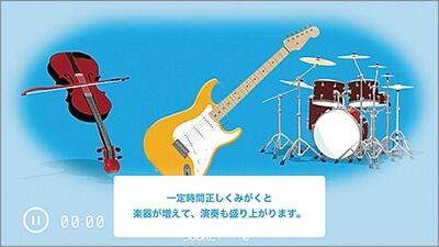 モンスターを退治、バンド演奏、ニュースと3種類のアプリを用意