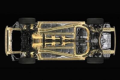 高剛性、低重心化された「スバル・グローバル・プラットフォーム」。今後、さまざまな車種に展開