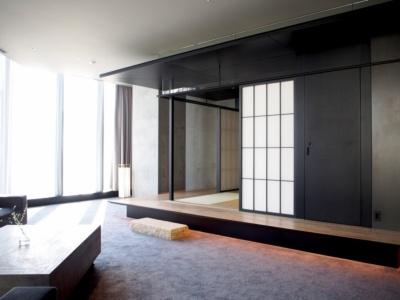 あえて室内に「離れ」を設け、日本家屋に宿泊したかのような感覚が味わえるXLタイプ。渋谷の夜景も楽しめる。定員4人で通常料金は1室25万円~