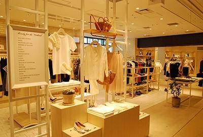 キーテナントは三越伊勢丹のファッションセレクトストア「イセタンハウス」の1号店。30~40代の高感度層がメーンターゲット