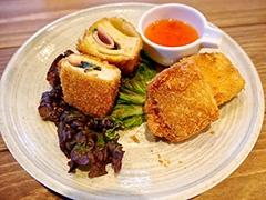 「高野豆腐のハムチーズフライ」(450円)