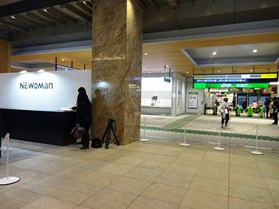 「ニュウマン」2階はJR新宿駅改札と直結