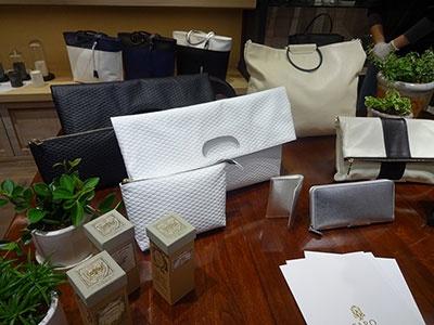 日本に昔から伝わる手法で作られた上質な革製品が男性に支持されている「ファーロ(FARO)」は実店舗では初めてレディスラインを展開(3階)