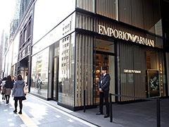 西銀座通りに面した約110メートルのブランドストリート。「エンポリオ アルマーニ」「ハケット ロンドン」「ストラスブルゴ」「ハンター」「グローブ・トロッター」はメゾネットタイプの大型店で出店