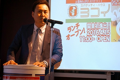 「関東に本物のあんかけスパの味はまだ伝わっていない。一人でも多くの人に知ってほしい」と語るヨコイの横井慎也取締役