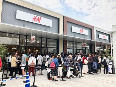 国内のアウトレットに初出店した、スウェーデンのファストファッション「H&M」。広島県内では2店舗目
