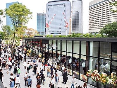 オフィスビルやホテル、ホールなどが集積し、就業人口約3万7000人の大阪ビジネスパークからも至近にある