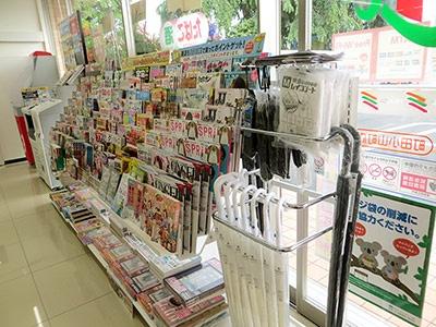 雑誌コーナーは従来に比べて棚の数は減っているものの段数が増えているため、アイテム数はほぼ変わらないという
