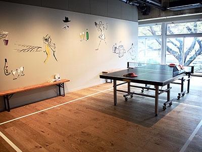 卓球台は24時間利用可能なので、宿泊客のレクリエーションとしても喜ばれそう